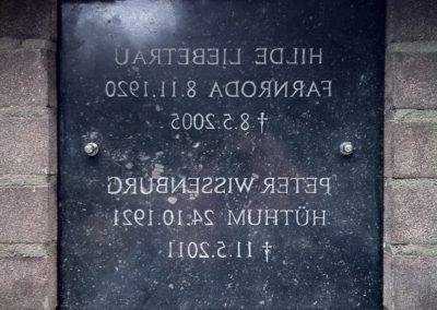 Gedenkplaat colombarium, Belgisch hardsteen, 30 x 30 x 2 cm